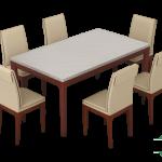 set meja makan marmer putih alami