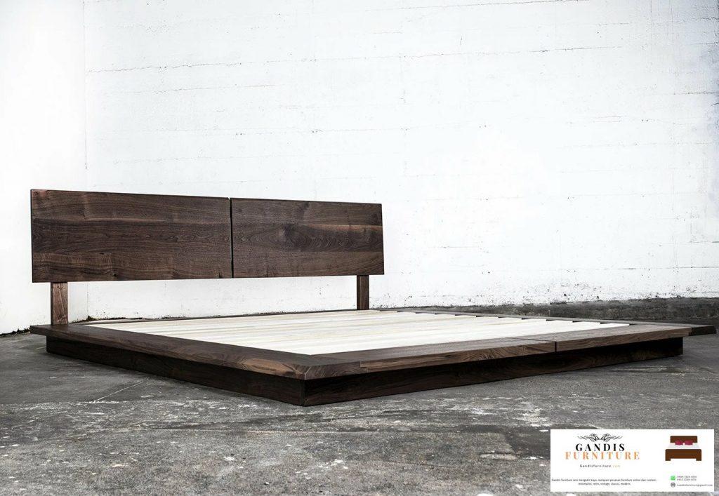 Tempat tidur minimalis lantai