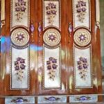 lemari pakaian minimalis kayu jati model gong