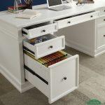 mejan kantor putih minimalis simple