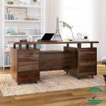meja kantor kayu jati minimalis