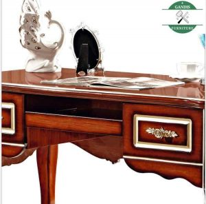 meja kantor kerja ukiran minimalis