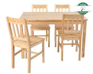 meja makan minimalis kayu pinus