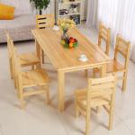 Set meja makan minimalis kayu jati belanda