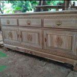 Bufet hongkong kayu jati jepara asli