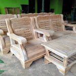 Kursi sudut gajah minimalis kayu jati jepara