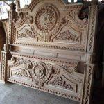 Tempat tidur mewah model gong kayu jati