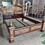 tempat tidur kayu jati mewah model rahwana