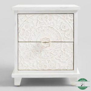 nakas minimalis klasik putih rustic   Side Table   Night stand
