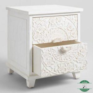 nakas minimalis klasik putih rustic
