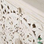 Bufet kayu jati jepara rustic white wash