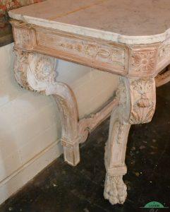 Meja Konsul ukiran klasik kuno itali kombinasi marmer