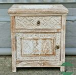 nakas rustic white wash kayu jati jepara   Night Stand   Side table rustic