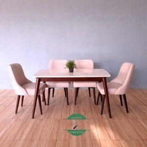 Meja makan marmer minimalis modern terbaru