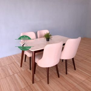 meja makan marmer minimalis