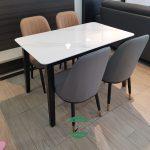 Meja makan marmer mewah modern terbaru
