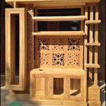 Meja tv model lemari mewah kayu jati jepara