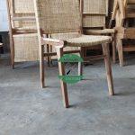 Kursi Cafe kayu kombinasi rotan alami jepara