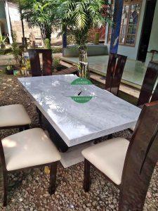 meja makan marmer mewah jepara minimalis