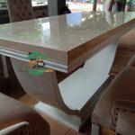 Meja makan marmer mewah minimalis terbaru 2021