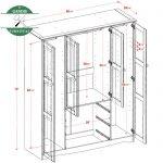 Model lemari pakaian Minimalis kayu jati jepara