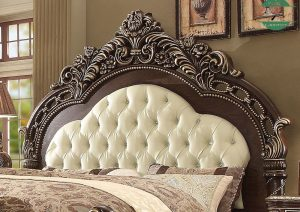 Tempat tidur ukiran jepara mewah kayu jati