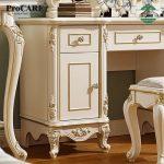 Meja rias putih mewah ukiran jepara kayu solid