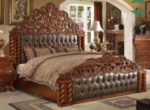 Tempat tidur kayu jati jepara mewah model klasik