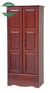 Model Lemari Pakaian 2 Pintu Kayu Jati Jepara Minimalis