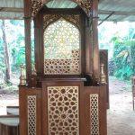 Mimbar Masjid Minimalis jati jepara