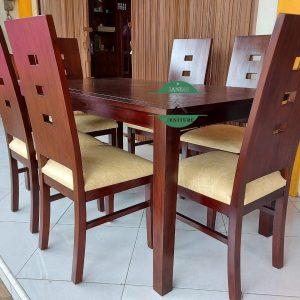 Meja makan minimalis murah kayu jati jepara