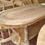 Meja makan kayu ukiran jepara model ganesha
