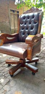 Kursi kantor jumbo kayu jati jepara