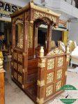 Mimbar Masjid kaligrafi kayu jati jepara