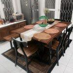 Meja makan terlaris kayu jati