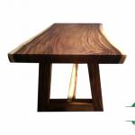 Meja trembesi solid utuh model modern besar