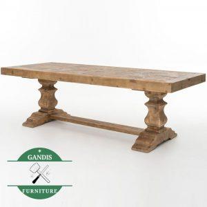 Meja makan kayu jati klasik vintage