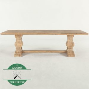 Meja makan klasik mewah kayu jati jepara