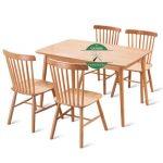 meja makan minimalis modern kayu sungkai
