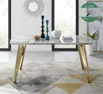 Meja makan marmer stainless warna gold emas
