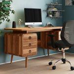 Meja kerja kayu minimalis jati jepara