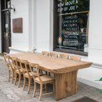 Meja makan trembesi solid utuhan jepara besar