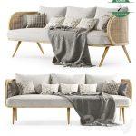 Sofa Minimalis Rotan Ruang Tamu