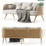 Sofa Minimalis Jepara Kayu Kombinasi Rotan