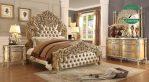 Tempat Tidur Mewah Kayu Jati Klasik