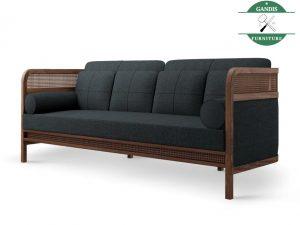Sofa Bed Minimalis Kombinasi Rotan Alami