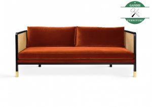Sofa Minimalis Bed Kayu Jati Kombinasi Rotan Alami