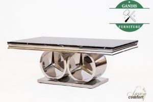 Coffee Table Marmer Mewah Model Logo Mercedez Benz