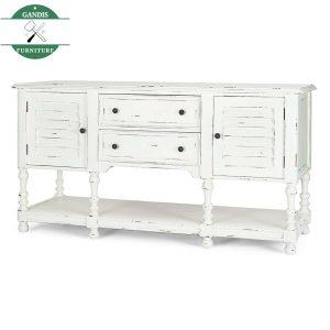 Meja Dapur Minimalis Putih Kayu Solid